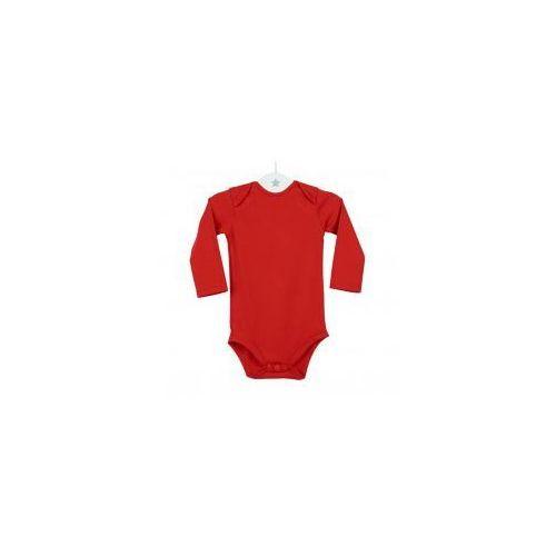 Dziecięce body długi rękaw czerwone, kolor czerwony