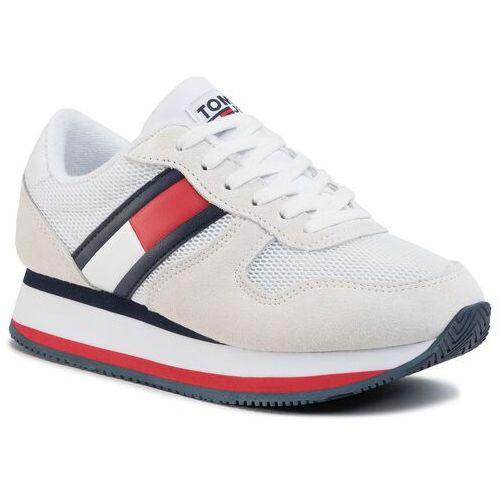 Tommy jeans Sneakersy - flatform runner colour sneaker en0en00790 rwb 0kp