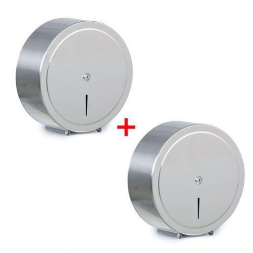 Pojemnik na papier toaletowy, stal nierdzewna, Ø 310 × 125 mm, 1+1 gratis marki B2b partner