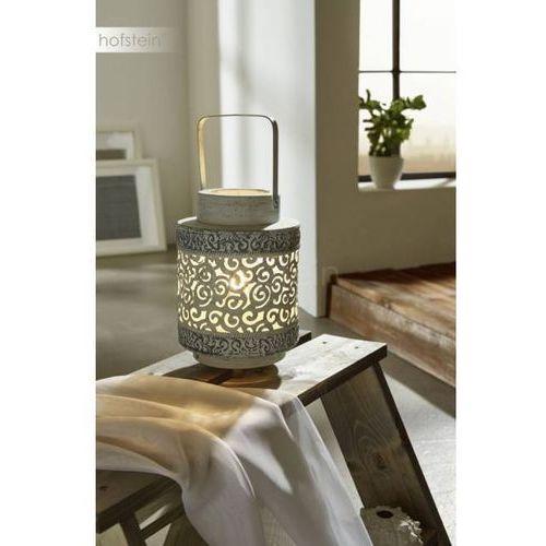 Eglo Stojąca lampka stołowa talbot 49275 oprawa metalowa wzorki szara (9002759492755)