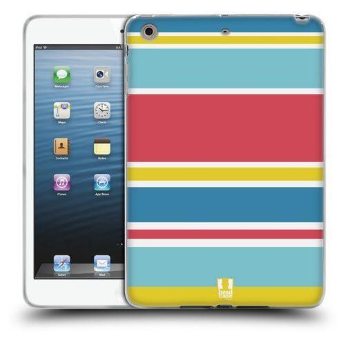 Etui silikonowe na tablet - paski niebieskie i różowe marki Head case