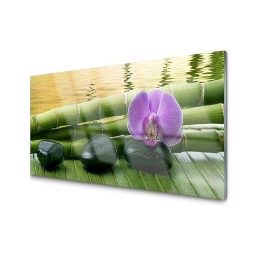 Obraz Akrylowy Kwiat Kamienie Bambus Natura