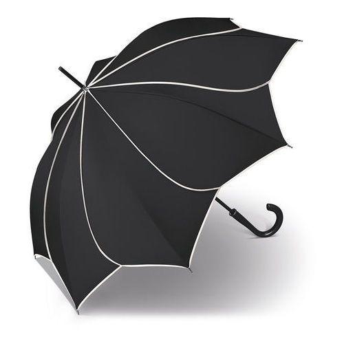 sunflower black & white długi parasol automatyczny long ac / czarny - czarny marki Pierre cardin