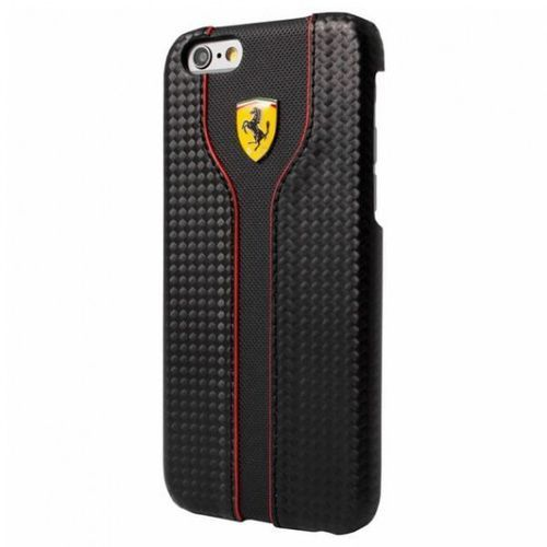 Ferrari  racing red trim - etui iphone se / iphone 5s / iphone 5 (black carbon)