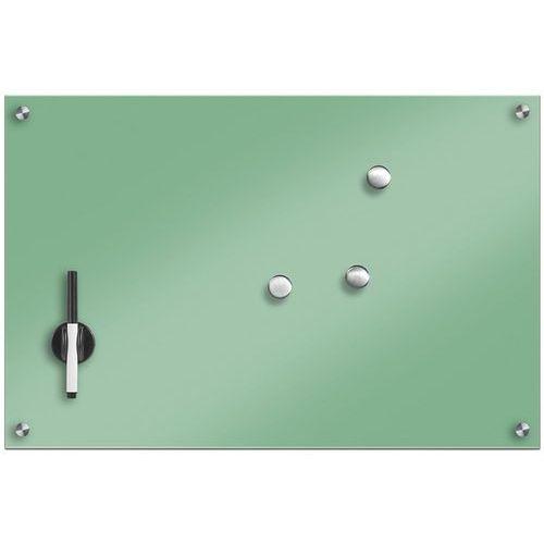 Szklana tablica magnetyczna, miętowy + 3 magnesy, 60x40 cm, ZELLER, B071G7J8DD