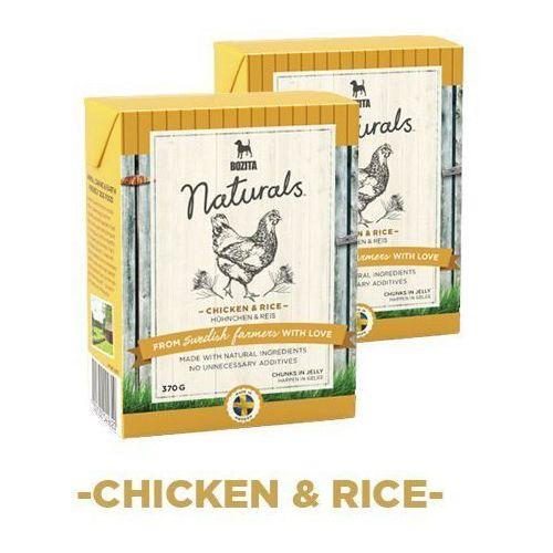 naturals z kurczakiem & ryżem - karma dla psów, 370 g marki Bozita