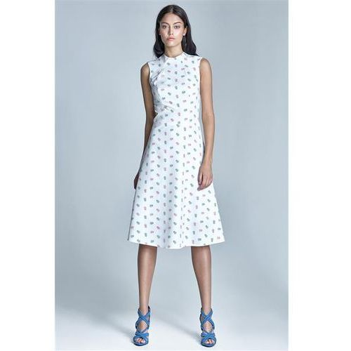 Sukienka model s70 1151 ecru/pink marki Nife