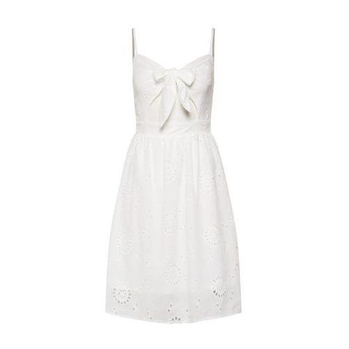 Missguided Letnia sukienka 'Tie Front Broderie' biały, kolor biały