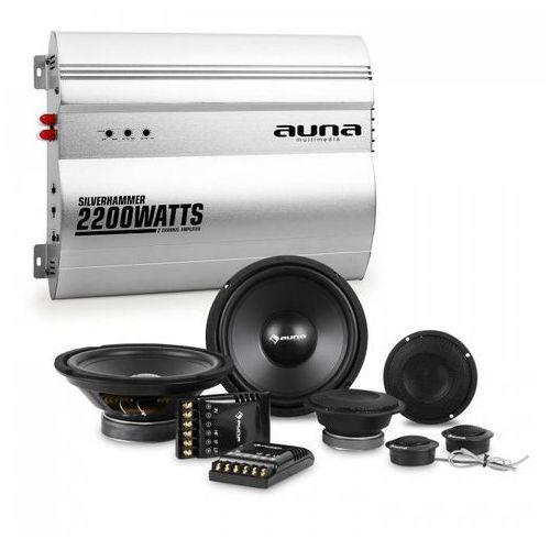 Auna Silverhammer kompletny zestaw głośników samochodowych hi-fi 2-kanałowa końcówka mocy