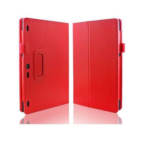 Czerwone etui typu Stand Cover Lenovo Tab 2 A10-30 + Szkło hartowane - Czerwony, kolor czerwony