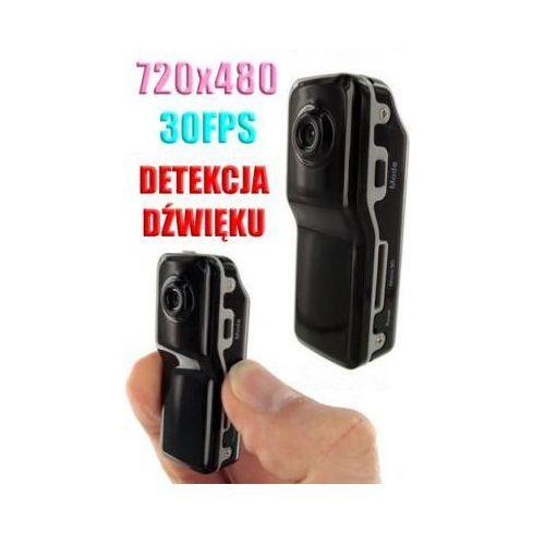 Spy Szpiegowski mikro-rejestrator (wielkości kciuka) nagrywaj. obraz/dźwięk + detekcja dźwięku + akces..