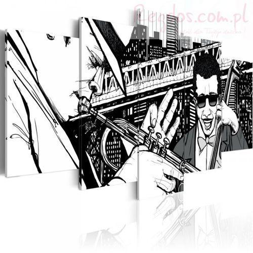 Obraz - koncert jazzowy na tle nowojorskich wieżowców - 5 częsci od producenta Artgeist