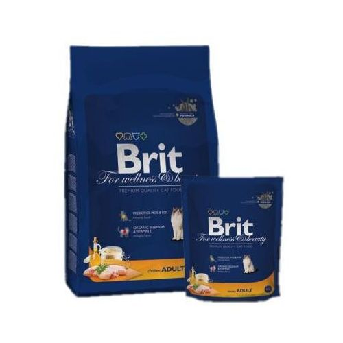 Brit cat premium new adult chicken karma dla kotów kurczak 0.3kg-8kg
