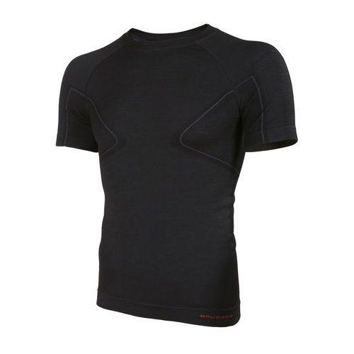 Koszulka męska active wool krótki rękaw ss11710  - czarny, marki Brubeck