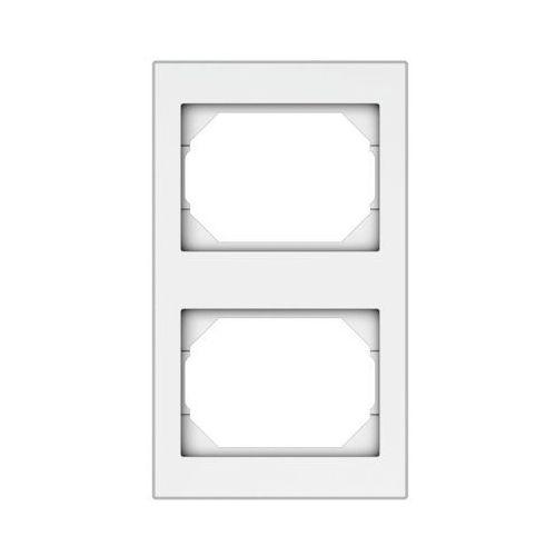 Dpm Ramka podwójna pionowa vilma rv02b biała (4779101510331)