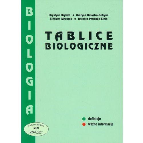 Tablice biologiczne / Oprawa miękka, oprawa miękka