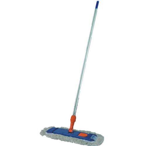 Clean Mop kieszeniowy płaski z bawełny 40 cm - komplet (uchwyt,mop,kij) mop do czyszczenia podłóg