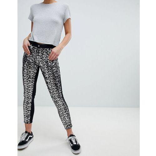 Parisian Skinny Festival Jeans in Sequins - Black, kolor czarny