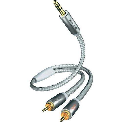 Kabel audio, cinch / jack  00410005, [2x złącze męskie cinch - 1x złącze męskie jack 3,5 mm], 5 m, biały, srebrny marki Inakustik