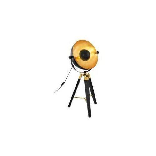 Eglo Lampa stołowa covaleda 49617 lampka oprawa 1x60w e27 czarna/złota (9002759496173)
