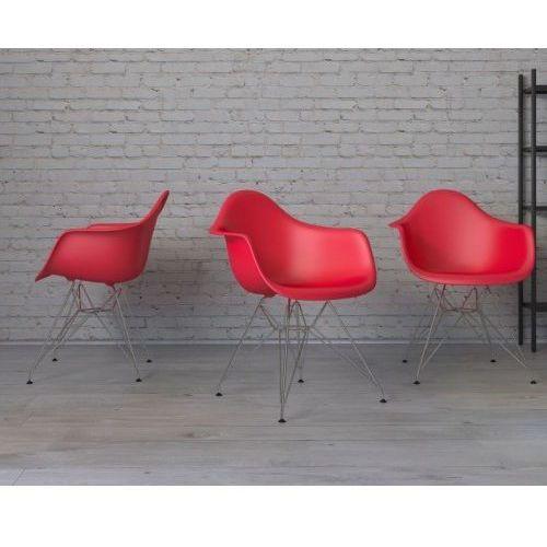 Krzesło P018 PP inspirowane DAR - czerwony (5902385709637)