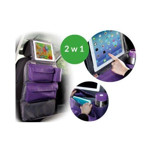 organizer podróżnika z uchwytem na tablet szary z fioletem marki Tuloko