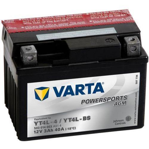 Varta akumulator motocyklowy powersports agm yt4l-4 / yt4l-bs
