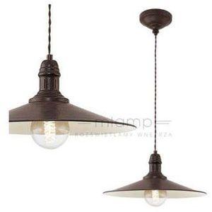 Lampa wisząca stockbury 49456 metalowa oprawa zwis antyczny brąz marki Eglo