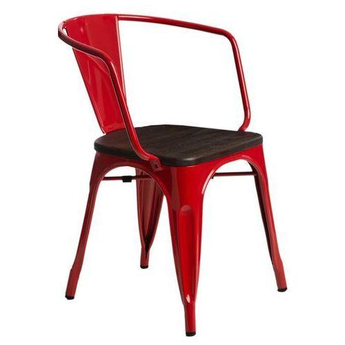Krzesło paris arms wood czerw. sosna szc zotkowana marki D2design