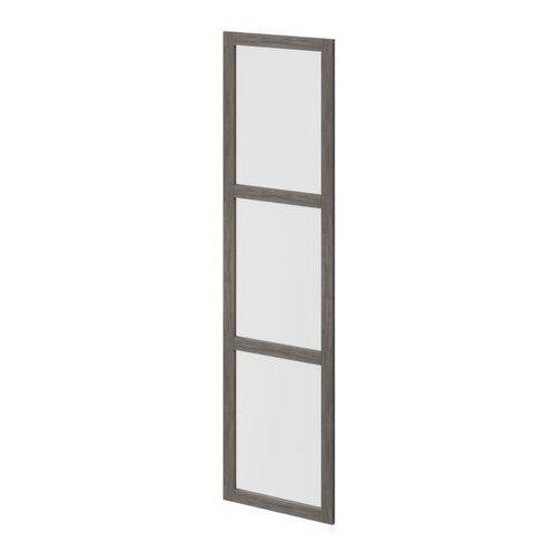 Drzwi do korpusu 50 x 187,5 cm GoodHome Atomia dąb szary/szkło mleczne (5036581054137)