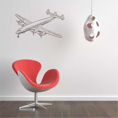 Samolot pasażerski szablon na ścianę 2307 marki Wally - piękno dekoracji
