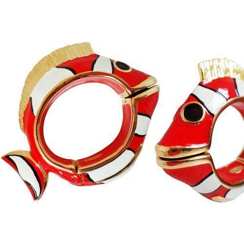 Mosiężna bransoletka Pasotti Br K13ro - Red Nemo Bracelet, kolor czerwony