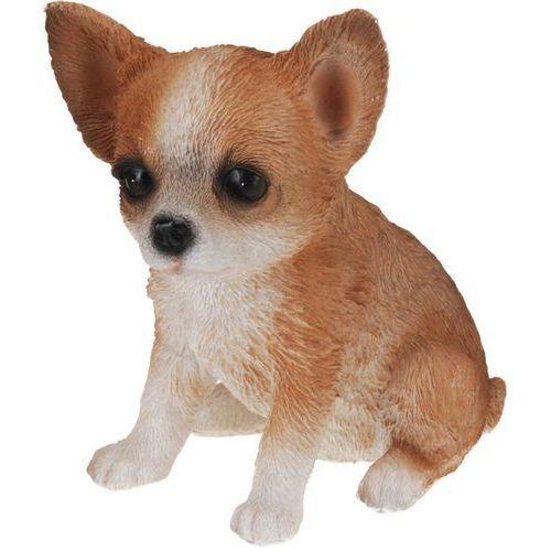 Ozdobna figurka psa z poliresingu, figurka dekoracyjna szczeniak o bardzo realistycznym wyglądzie