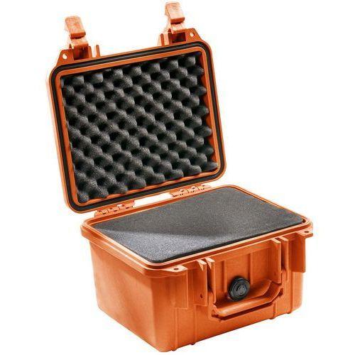 Peli Box 1300 pudełko z tworzywa sztucznego, z wkładką z pianki, pomarańczowy
