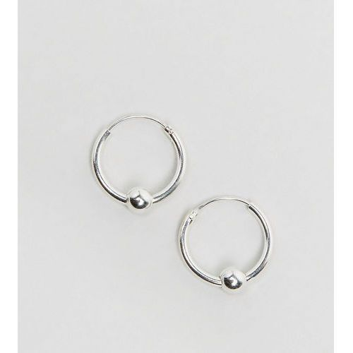 sterling silver mini ball hoop earrings - silver marki Kingsley ryan