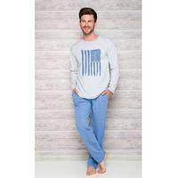Piżama karol 1007 dł/r l-2xl n 2xl, szary-niebieski, taro marki Taro