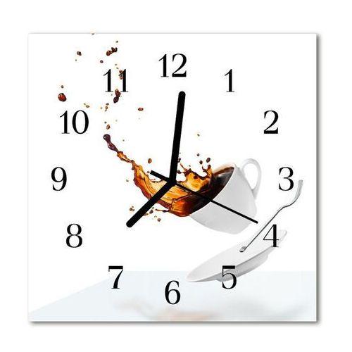 Zegar szklany kwadratowy Filiżanka kawy