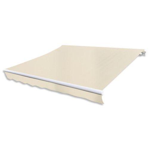 vidaXL Składana markiza przeciwsłoneczna, kremowa, 600 x 300 cm