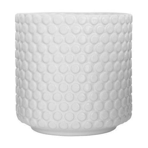 Biała doniczka w skandynawskim stylu bubble - marki Bloomingville