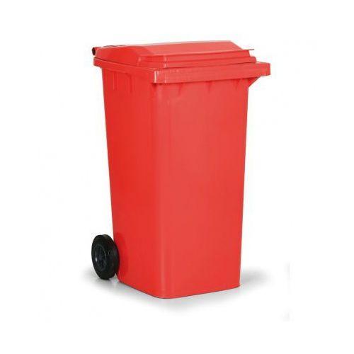B2b partner Plastikowy pojemnik na odpady cld 240 litrów, czerwony