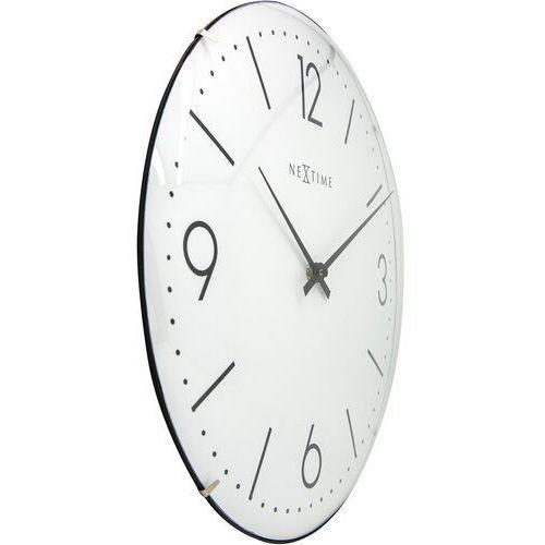 Nextime - zegar ścienny basic dome - biały
