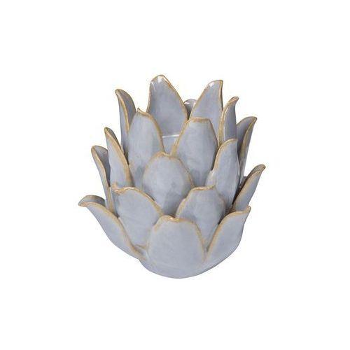 Black red white Świecznik ceramiczny (5901440672992)