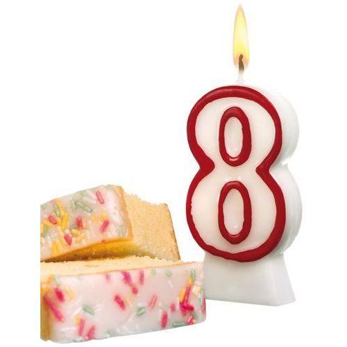 Świeczka na tort urodziny cyfra 8 7,7cm susy-card - cyfra 8 marki Pelikan