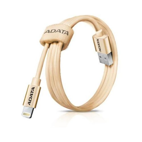 Adata kabel usb-ligthning 1m apple cert. gold braid.