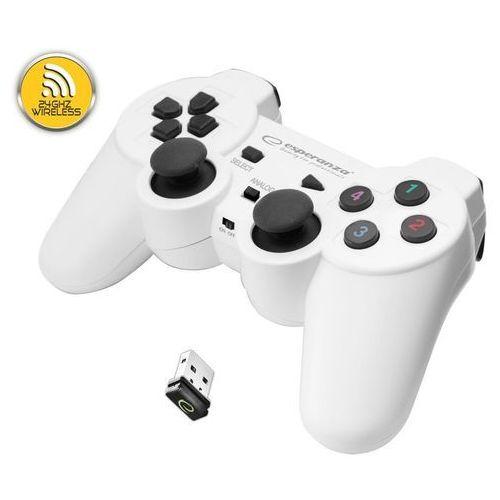 """Gamepad bezprzewodowy 2.4GHz PS3/PC USB Esperanza """"Gladiator"""" biało/czarny (5901299947272)"""