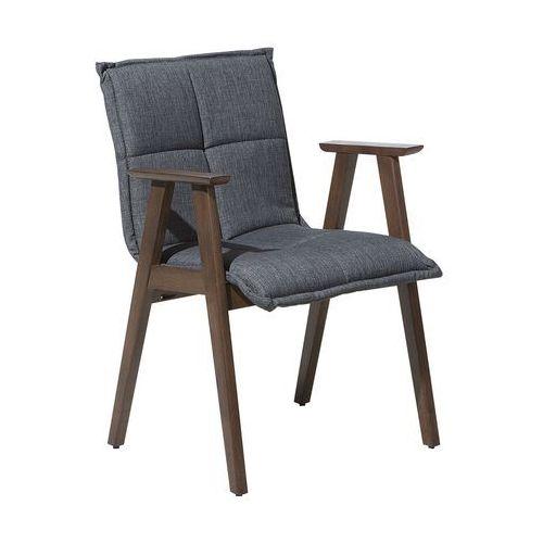 Beliani Krzesło do jadalni ciemnoszare milton