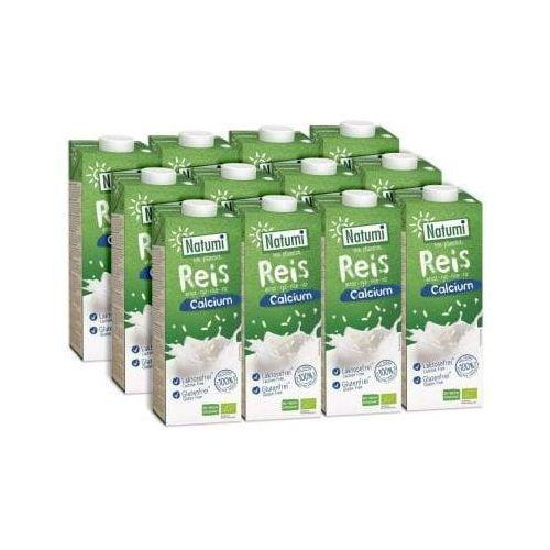 ZESTAW 12 szt - Napój ryżowy z wapniem z alg morskich BIO 12 x 1L - NATUMI, 4038375024389
