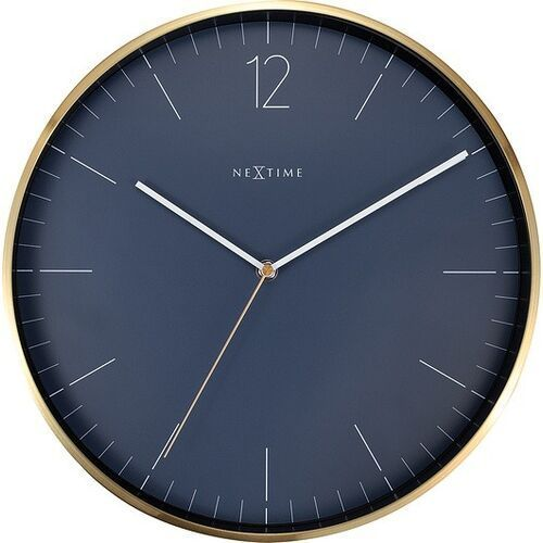 Zegar ścienny essential gold niebieski