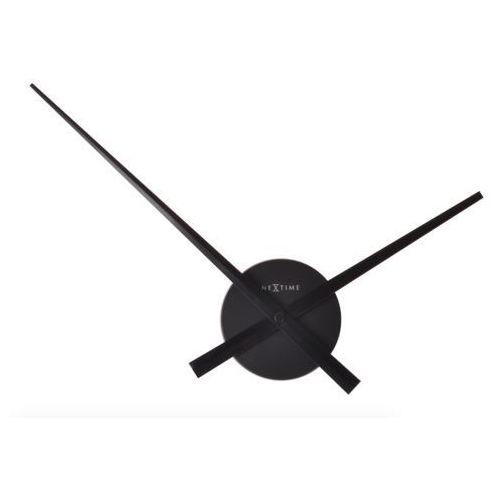 Nextime :: zegar ścienny mini hands czarny Ø41cm - czarny