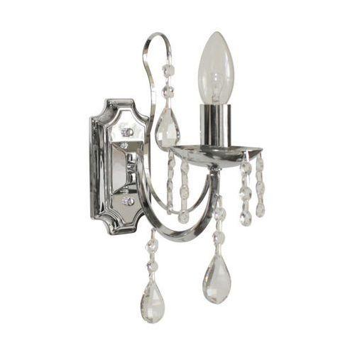 Zuma line Kinkiet lampa ścienna alibi 1x40w e14 srebrny/transparentny p17194-1w